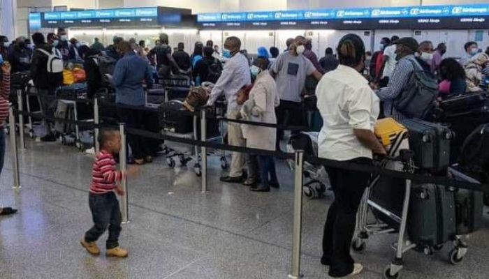 Nigerian passengers stranded at London after being forced to disembark from aircraft