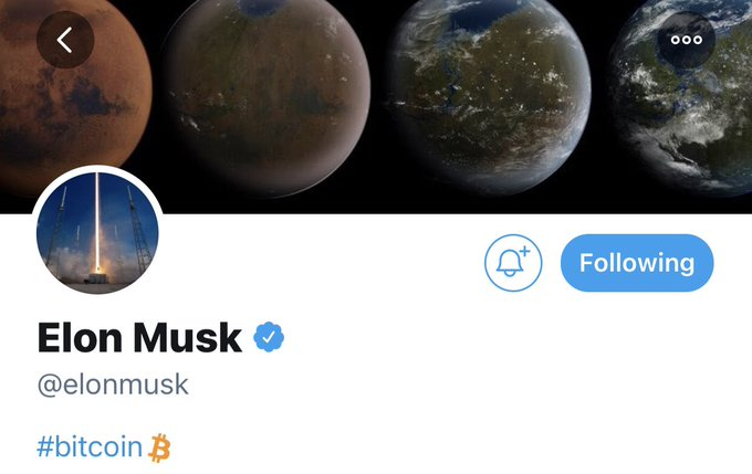 Bitcoin: Elon Musk's profile update sends the crypto on a short bull run