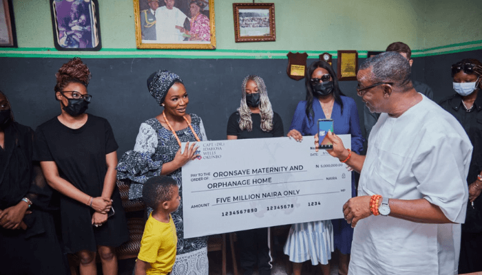 Idahosa Okunbo family gift N5m to Oronsaye Maternity Home in Benin
